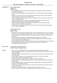Hr Coordinator Resume Samples | Velvet Jobs