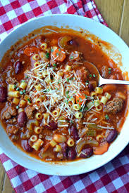 you can make this soup without the meat or without the beans or even with gluten free pasta it will taste delicious either way you fit it into your