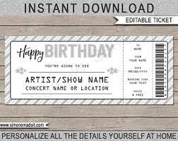 Birthday Gift Cruise Ticket Fake Boarding Pass Printable Etsy