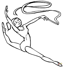 Small Picture Gymnastics coloring page Free Printable Coloring Pages