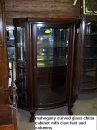 Chippendale China Cabinet Mahogany Curved Glass China Cabinet Chippendale Federal Style