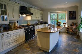 Walnut Island counter tops traditional-kitchen