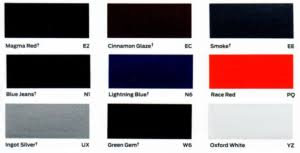 2013 Ford Color Chart Color Explosion 2019 Ford Suv And Ford Truck Colors Beach