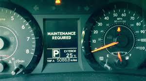 Toyota Maintenance Light How To Reset Toyota Sienna Maintenance Required Light Oil