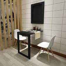 Folding dining table for small space Wall Mounted Folding Dining Table Wallmounted Fold Up Table For Small Spaces Black Mdf Multi Amazoncom Amazoncom Folding Dining Table Wallmounted Fold Up Table For