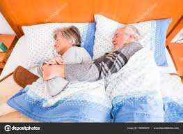 Light Bed Rest Stop Alarm Wake Stay Rest Bed Senior Couple People Home