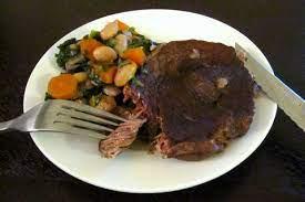 braised beef mock tenders in red wine