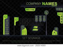 Free Signage Template Set Signage Direction Vector Photo Free Trial Bigstock