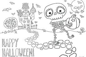 Scary Halloween Coloring Pictures Pages For Kids Lovely Printable ...
