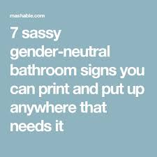 gender neutral bathroom sign funny. Beautiful Gender The 25 Best Gender Neutral Bathroom Signs Ideas On In Sign Funny O