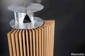 bang and olufsen speakers. the beolab 18 has an acoustic-lens tweeter that disperses sound evenly through a room. all of bang \u0026 olufsen\u0027s wisa speakers and olufsen o