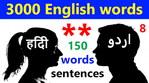 learn english voary with words