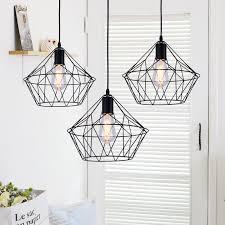 modern diamond pendant light fixture