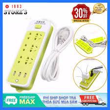 Ổ Cắm Điện Đa Năng Chống Giật 6 Lỗ, 3 Cổng USB, Đa Năng Tiện Dụng