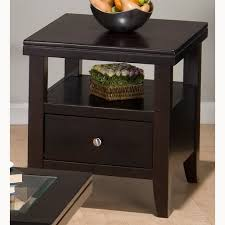 living room end tables with drawers. living room end table magnificent classic design brown lacquered finish square wooden side lower shelf drawer tables with drawers y