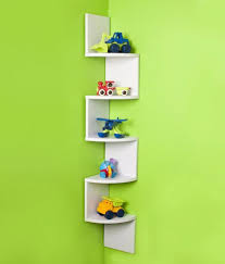 Curved Wall Shelves Decornation Corner Wall Shelves Unit Zigzag Shape 5 Curved Shelves