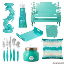 Turquoise Home Accessories - Turquoise Home Decor - House Beautiful SEE,  TOLD YOU MIAMI COLOR