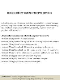Reliability Engineer Resume Top224reliabilityengineerresumesamples224conversiongate224thumbnail24jpgcb=1242224369697 7