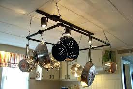diy hanging pot rack s flower holder ideas plant diy hanging pot rack