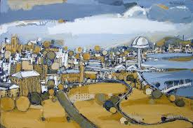 new newcastle city painting oil painting