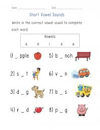 Accounting. grade 2 english worksheets printable free: Vowels ...