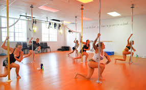 Stripper pole aerobic classes