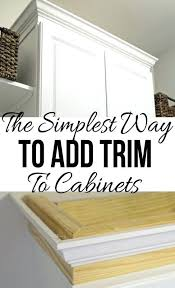 adding molding to kitchen cabinets the easiest way to add trim to a cabinet adding molding adding molding to kitchen cabinets kitchen best how