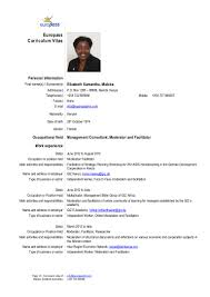 Cv Elizabeth Maloba