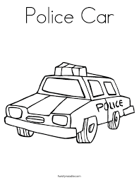 Small Picture Police Car Coloring Page Twisty Noodle