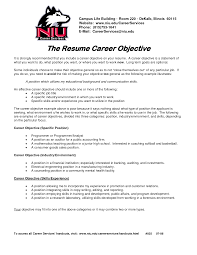 Cover Letter Career Objective On A Resume Career Objective On A