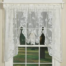 Lace Window Treatments Elegant Country Style Curtains In Floral Lace Sturbridge Yankee