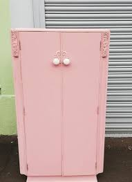 pink painted furniture. Vintage Painted Children\u0027s Wardrobe In Pink Furniture