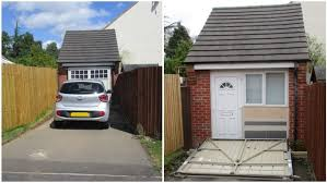 the couple tried to hide their conversion with a fake garage door photo bpm a