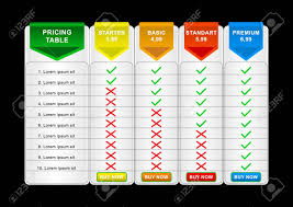 Plan Comparison Chart Comparison Pricing List Comparing Price Or Product Plan Chart