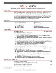 Firefighter Resume Template Inspiration Firefighter Resume Examples Emergency Services Sample Resumes