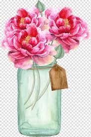 Paper Flower Bouquet In Vase Wedding Invitation Paper Flower Bridal Shower Vase Pink