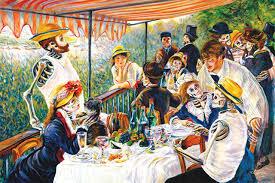 courtesy duran s día de los muertos inspired remix of renoir s luncheon of the