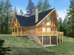 basement log cabin floor plans with cool style house loft