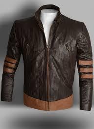 wrinkled brown x men origins wolverine leather jacket