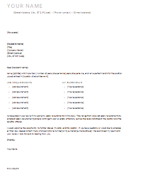 Resume Cover Letter Templates For Microsoft Word