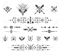 Boho Patterns Impressive Hand Drawn Boho Patterns With Stroke Line Arrow Decorative