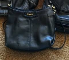 best black leather coach purse with gold e15ef 589b0