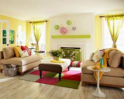 Yellow And Brown Living Room Amazing Decorating Living Room Ideas By Rattan Arm Chair And Wood