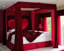 New For Couples In The Bedroom Red Canopy Bed Curtains Amys Office