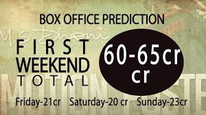 thinking box office. ms dhoni box office prediction first day and weekend thinking