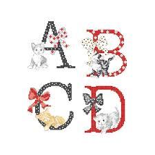 The Big Cats Alphabet Chart Les Brodeuses Parisiennes