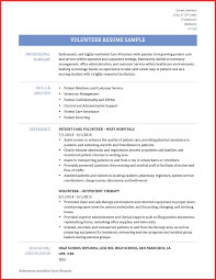 Inspirational Volunteer Resume Personel Profile