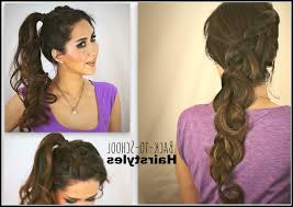 Quick Ponytail Hairstyles Simple Hairstyles For School Ponytail 6 Quick And Easy Ponytail