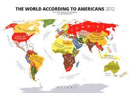 United States Map Of The World 31 Maps Mocking National Stereotypes Around The World Bored Panda