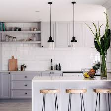 Light gray kitchen cabinets simple ornaments to make for kitchen design  inspiration 1